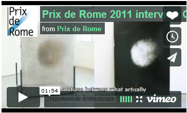 Prix de Rome 2011 interview Gwenneth Boelens