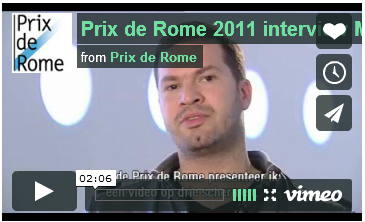 Prix de Rome 2011 interview Mark Boulos