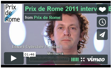 Prix de Rome 2011 interview Edward Clydesdale Thomson
