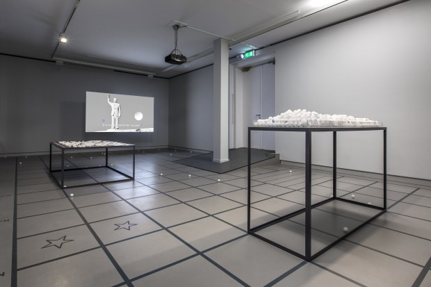 Foundland, installation for Prix de Rome 2015 exhibition at De Appel arts centre in Amsterdam. Foto: Daniel Nicolas